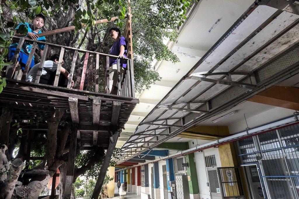 位於彰化芳苑鄉的晨陽學園,使用已經廢校的新街國小校舍,讓國中的中輟生入住,輔導他們的生活起居與學業。