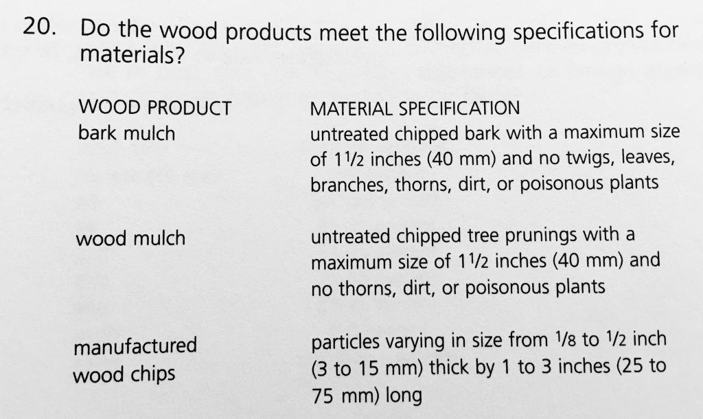 對兒童遊戲場安全規範的 Check List, 裡面幾乎有所有的規範, 包括木屑地面的 size 等規範